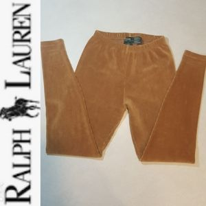 Ralph Lauren Cordurouy Honey-Colored Leggings s. L